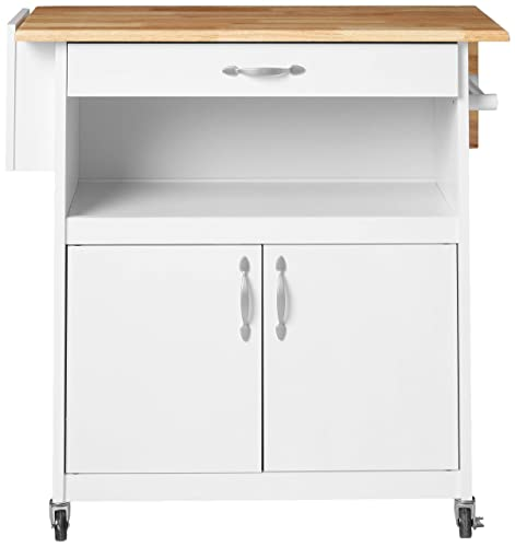 Catskill Craftsman Drop-Leaf Kitchen Cart, White