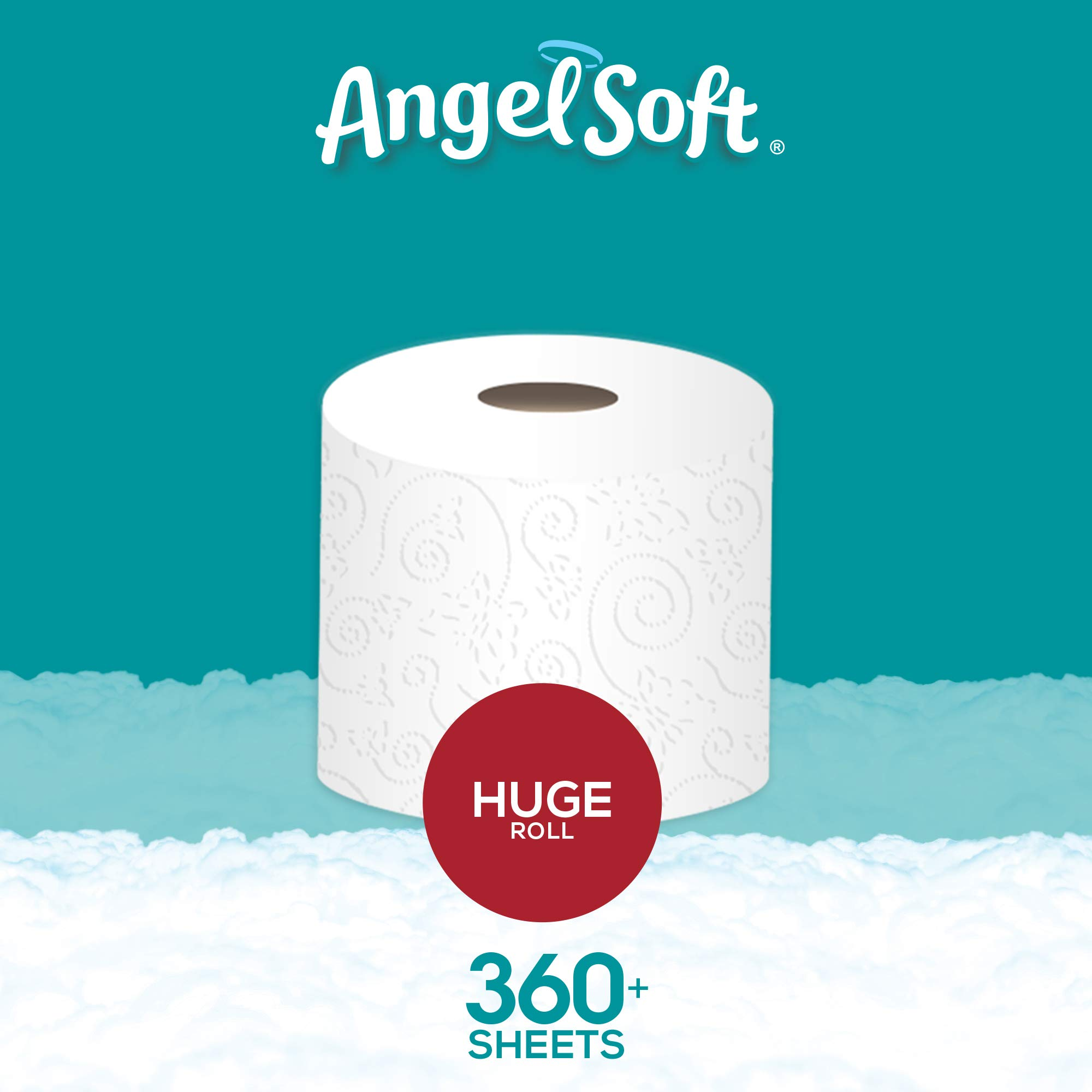 ANGEL SOFT Toilet Paper Bath Tissue, 36 Huge Rolls, 360+ 2-Ply Sheets Per Roll by Angel Soft (Image #11)