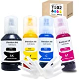 Seogol Compatible Refill Ink Bottles Replacement for Epson 502 T502 for Use with Ecotank ET-2750 ET-2760 ET-3750 ET-2700…
