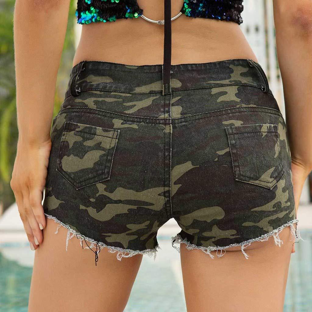 Women Camouflage Jeans Low Waist Super Comfy Stretch Denim ...