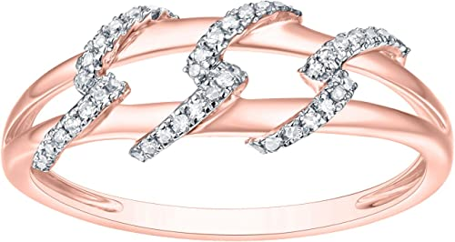 Prism Jewel G-H//I1 Round Natural Diamond Delicate Fancy Ring