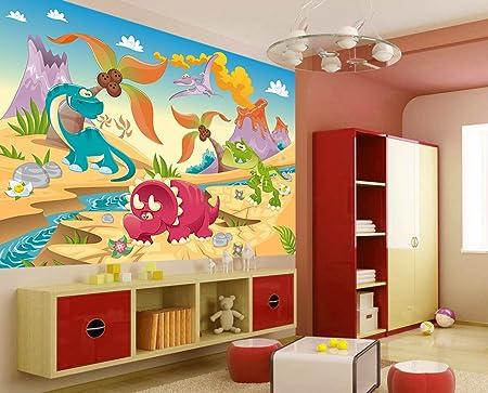 Fototapete Kinder Tapete Dino Land 250x170 Kinderzimmer Dinosaurier