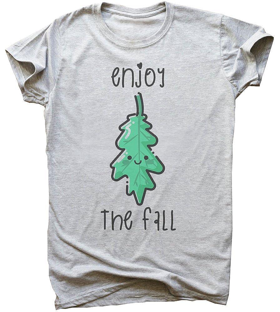 Enjoy The Fall Cute Autumn Leave Mens T-Shirt