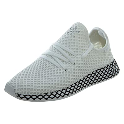 adidas Originals Deerupt Runner Shoe - Men's Casual 10 White/Black: Shoes