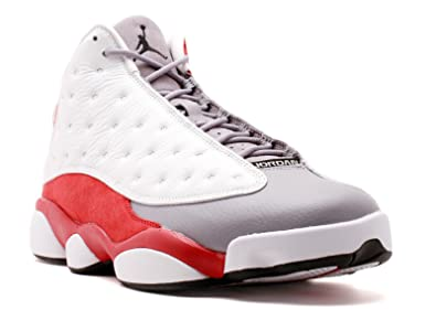 newest fbd82 f1ee1 Jordan Air 13 Retro Grey Toe Men s Shoes White Black-True Red-Cement