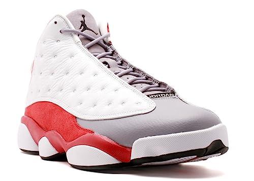 online store 35fb8 626b3 Amazon.com | Jordan Mens AIR JORDAN 13 RETRO White/True Red ...