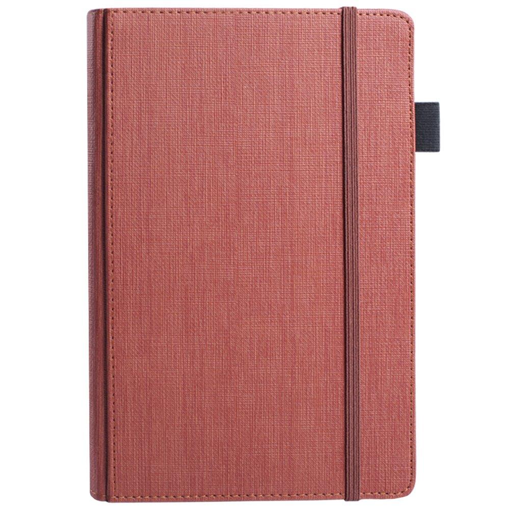 Bullet Journal Notebook,LuolLove Cuaderno Clásico de Tapa Dura A5 de Papel Grueso Premium de 100gsm con Cierre Elástico, Titular de la Pluma,Cinta Marcadora (8.3 * 5.8 pulgadas) (Negro)