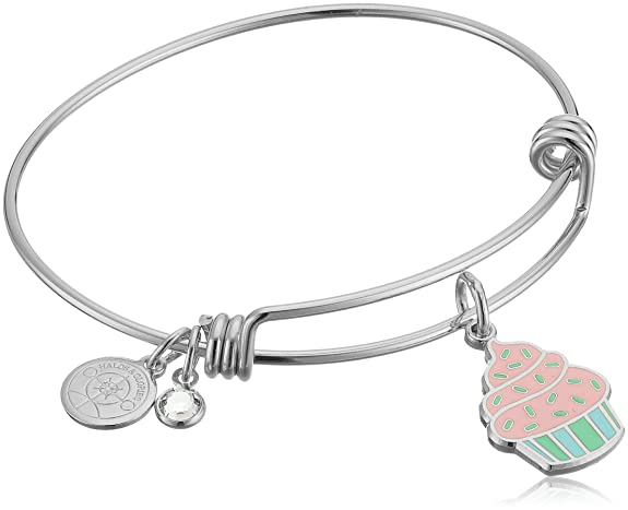 Halos & Glories, Cupcake Shiny Silver Bangle Bracelet