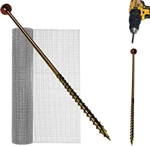 Keyfit Tools Power Anchors (36 Pack) for Wire Mesh Fencing Garden Netting Chicken Wire to Keep Out Rabbits, Deer & Animals for Shrub & Winter Freeze Frost Plant Cover Protection Screw in Stakes