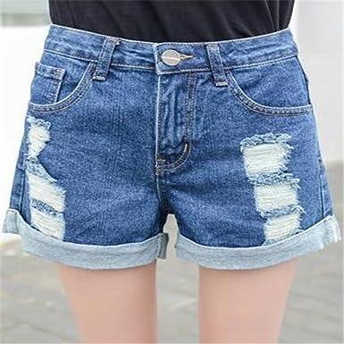 Récolte Vêtements D'été Pirate Shorts Jeans Waist Femme La Mid Denim qpUVMGLSz