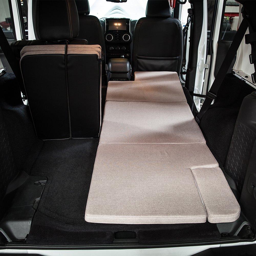 Xprite Browm Jeep Wrangler JKU 2007-2018 Sleeping Mattress Camping Pad Bed Platform, NitePad Sand Premium 1.5-inch Thick Portable Trunk Cushion by Xprite (Image #2)
