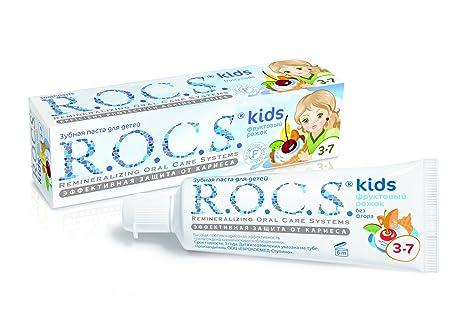 Dentífrico R.O.C.S. Kids Fruity Cone con sabor a helado / ROCS Sin flúor