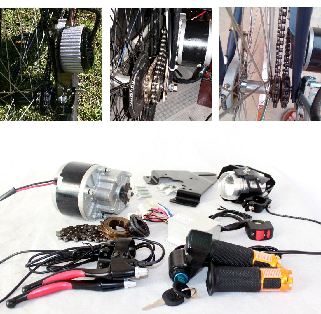 250ワット電気自動車変換キットdiy電動バイクコンポーネントledレンズヘッドランプスロットルハンドルバッテリー電源インジケータ [並行輸入品] B0784JL5Z1