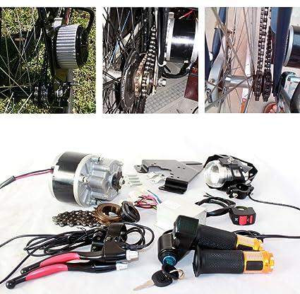 L-faster Cepillo eléctrico para Bicicleta – 250 W gaspedal eléctrico con schlüsselschalter y batteriespannung Fácil – Kit para DIY – E – Bike