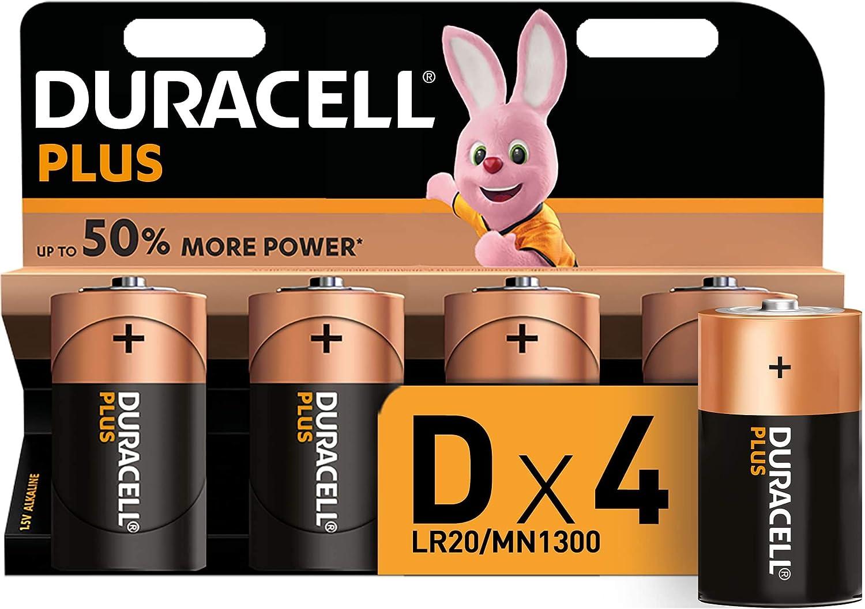 Duracell Plus D Mono Alkaline Batterien Lr20 4er Pack Elektronik