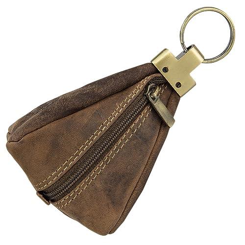 91bb35bad4 Greenburry Vintage custodia portachiavi pelle 7 cm marrone: Amazon.it: Scarpe  e borse
