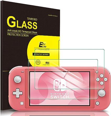 ELTD Protector de Pantalla para Nintendo Switch Lite, 9H,2.5D, Vidrio Templado Glass Film Protector de Pantalla para Nintendo Switch Lite Tableta, 2 Pack: Amazon.es: Electrónica