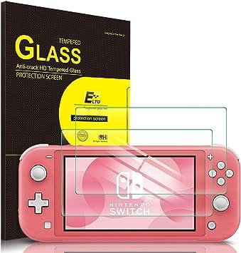 ELTD Protector de Pantalla para Nintendo Switch Lite, 9H,2.5D ...