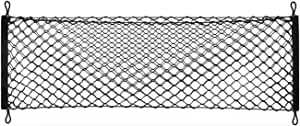 Heavy Duty Cargo Net Stretchable, Universal Adjustable Elastic Truck Net with Hooks, Storage Mesh Organizer Bungee for Car, SUV, Truck
