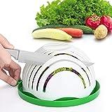 Salad Cutter Bowl Upgraded Easy Salad Maker by WEBSUN, Fast Fruit Vegetable Salad Chopper Bowl Fresh Salad Slicer