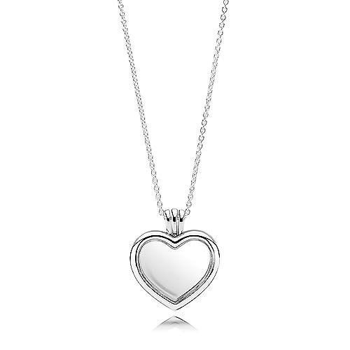 Pandora 590544-60 Kette mit Anhänger Herz Medaillon