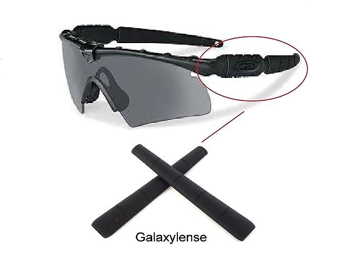 f9df537d4450b Amazon.com  Galaxy Earsocks Rubber Kits For Oakley Si Ballistic M Frame 2.0  Z87 Black  Clothing