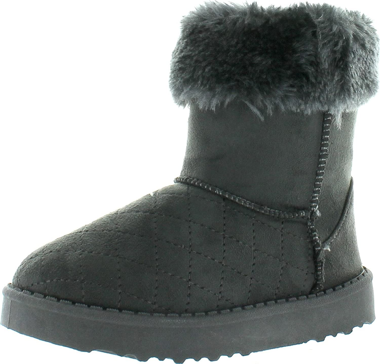 Via Pinky Coco-24F Kids Big Girls Fashion Slip On Ankle Booties Winter Shoes