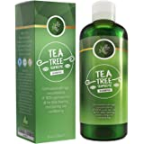 Sulfate Free Tea Tree Shampoo Dandruff Treatment for Women & Men with Pure Rosemary + Jojoba Oils - Healthy Scalp Cleanser for Colored Dry + Oily + Thick + Fine Natural Hair Care for Silky Soft Hair