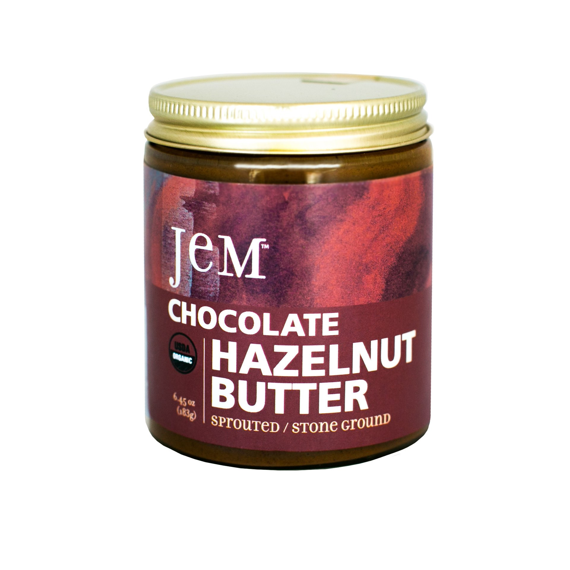 JEM - USDA Certified Organic Chocolate Hazelnut Butter Spread, Vegan, NON-GMO - 6 oz by JEM Organics