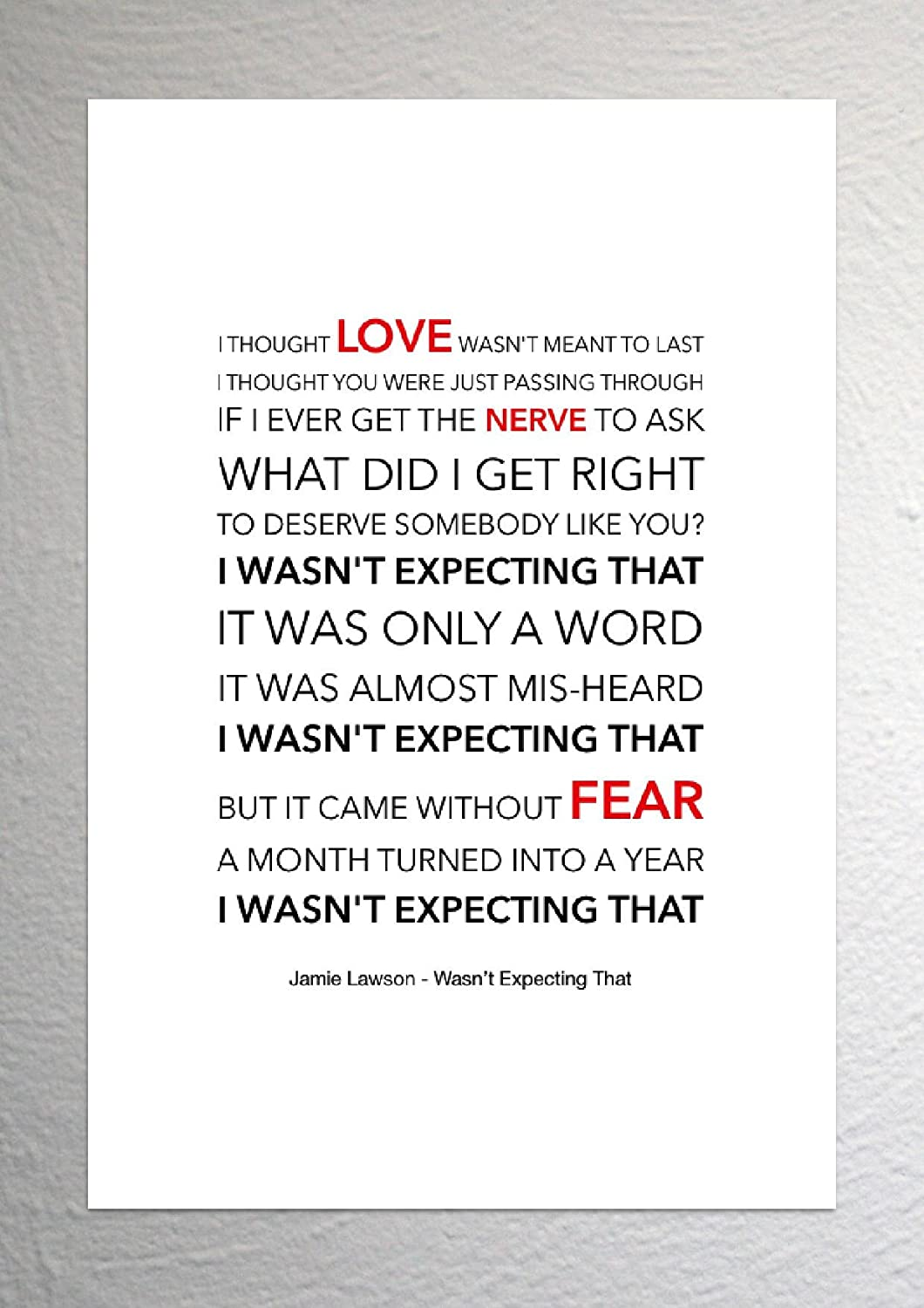 Jamie Lawson - Wasn't Expecting That - Funky Lyric Art Print