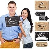Engagement Announcement - Photo Prop Kit - 10 Count