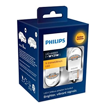 Philips X-tremeUltinon gen2 LED Ultinon Ámbar Coche Bombillas WY21W (Pack Doble): Amazon.es: Coche y moto