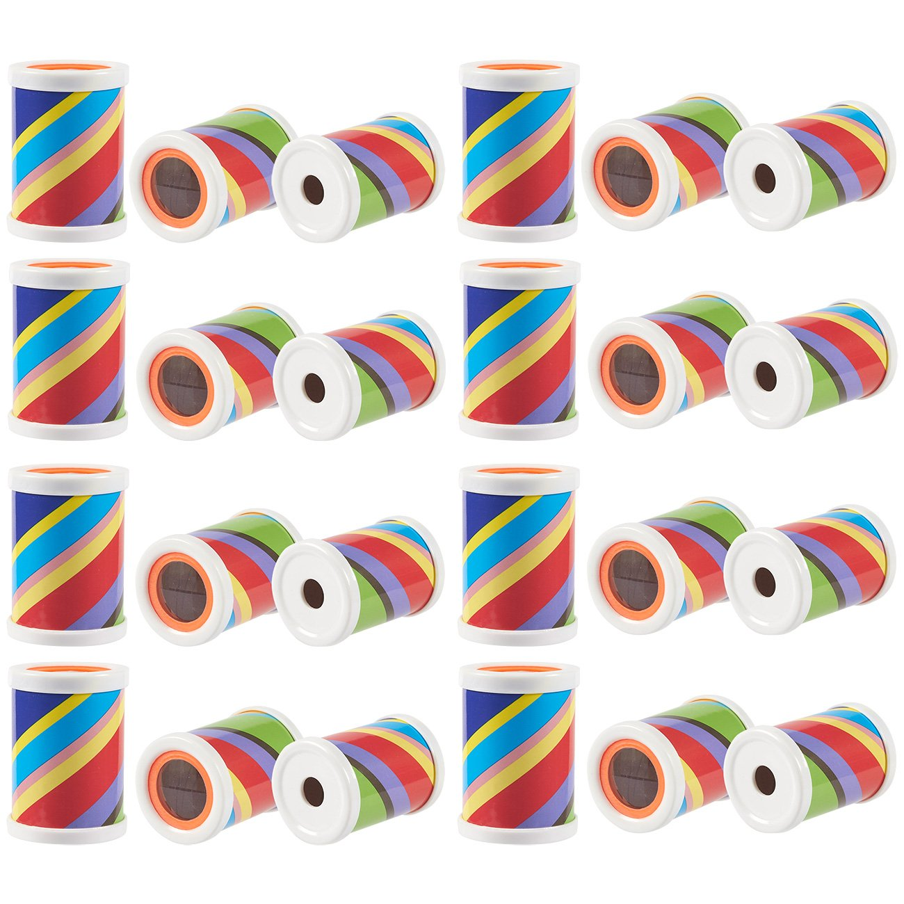 Blue Panda 24-Pack Prism Scope Set - Mini Plastic Prism Tubes, Great Party Favors Birthday Gifts Children, 2.5 x 1.75 x 1.75 inches