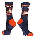 MadSportsStuff USA Flag Hockey Player Crew Socks