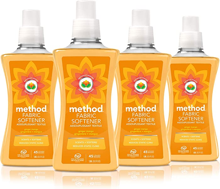 Method Fabric Softener, Ginger Mango, 53.5 Ounce, 45 Loads (4 Count)