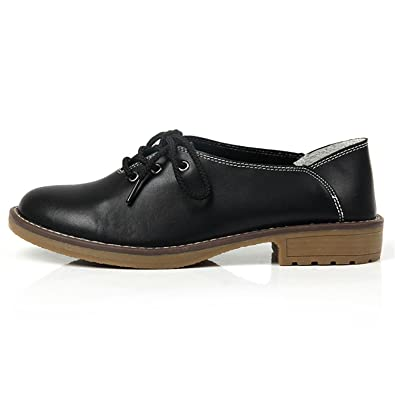 Carolyn Jones Genuine Leather Oxford Shoes Casual Moccasins Loafers Ladies Shoes Black 4