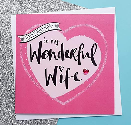 Wife Birthday Card Romantic Wife Card Birthday Gifts For Her
