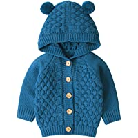 Borlai 3-24M Bebé de punto de la capa linda del oso de la oreja del suéter con capucha chaqueta casual de la chaqueta…