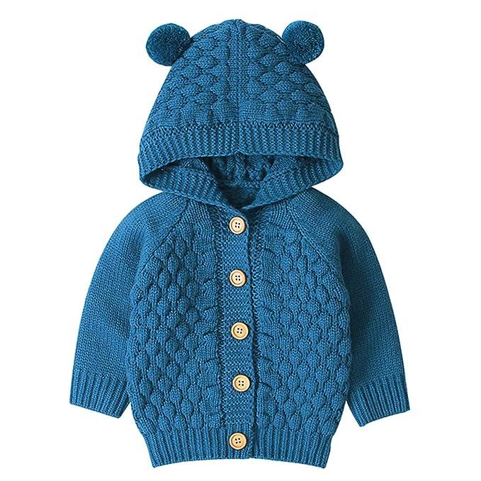 Tianhaik Bebé bebé de Punto de Ganchillo Abrigo Chaqueta con ...