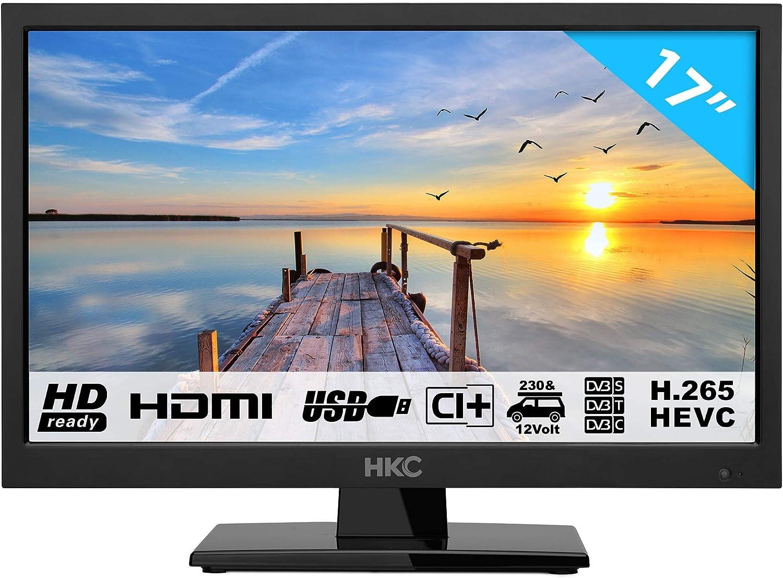 HKC 17H2 Televisor LED (17 Pulgadas HD TV) Triple Tuner, Ci+, HDMI ...
