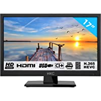 HKC 17H2 Televisor LED (17 Pulgadas HD TV) Triple Tuner, Ci+, HDMI+USB, Cargador de Auto de 12 V [Clase de eficiencia energétuca A+]