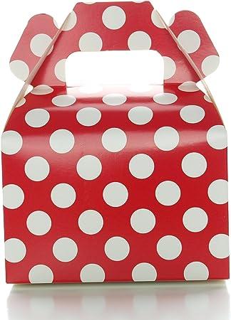 Amazon.com: Rojo lunares cajas de caramelos (12 unidades ...