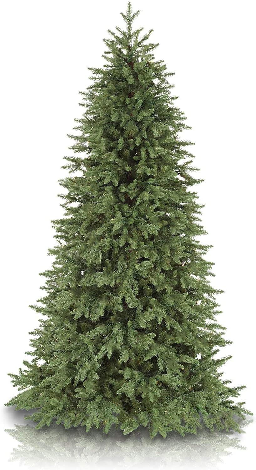 Balsam Hill 7.5ft Premium Unlit Artificial Christmas Tree Stratford Spruce with Storage Bag, and Fluffing Gloves