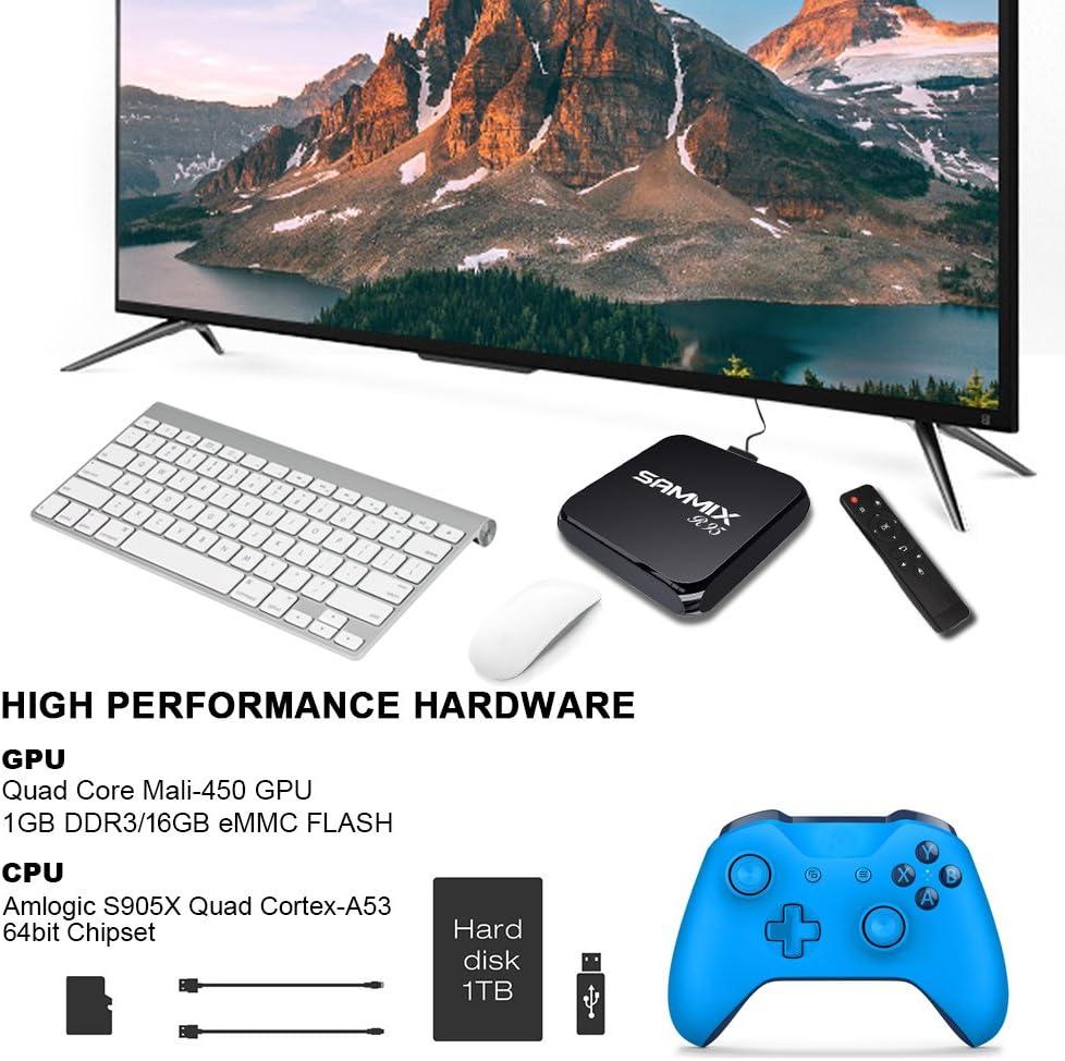 2018 Android TV Box SAMMIX R95 Smart TV Box, Amlogic S905X Quad Core, 1GB RAM & 16GB ROM, 4K*2K UHD H.265, HDMI, USB*2, BT 4.0 WIFI Media Player, ...