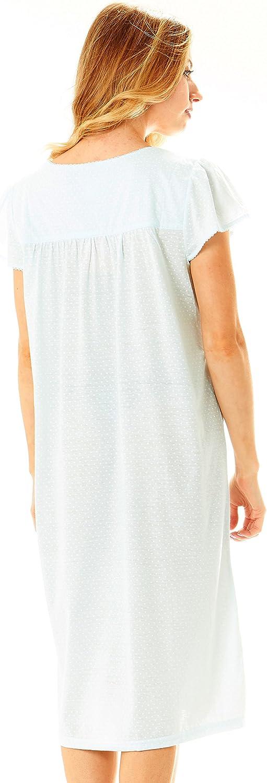 Womans Cap Sleeve Sleep Dress Nightshirt Floopi Womens Nightgown Sleepwear Cotton Pajamas