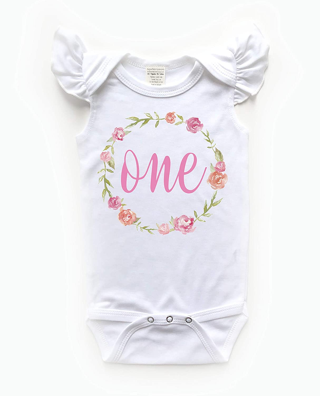 1st Birthday Baby Girl Bodysuit Ouffit 6-12 months