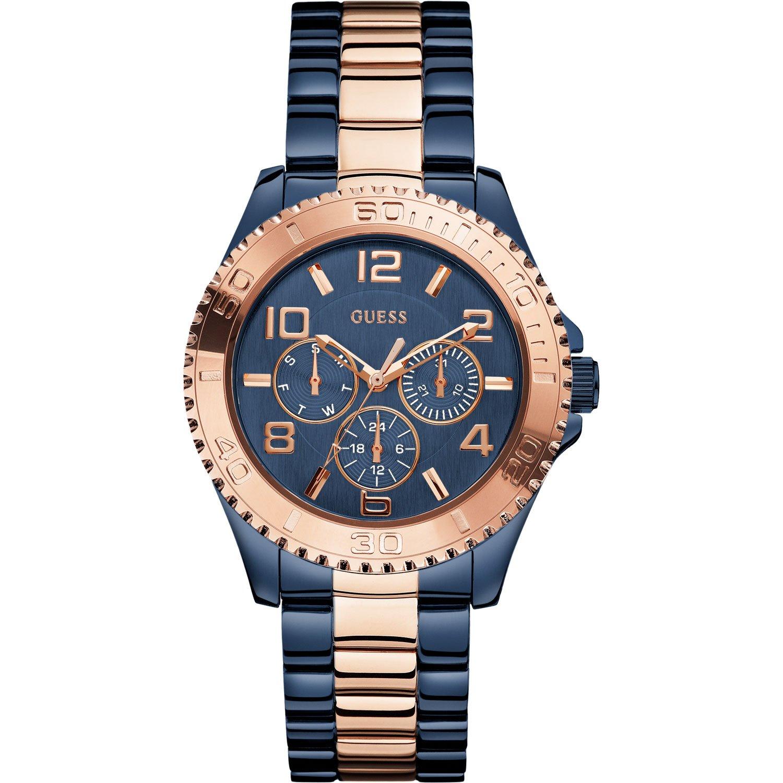 Guess Damen-Armbanduhr Analog Quarz Edelstahl W0231L6