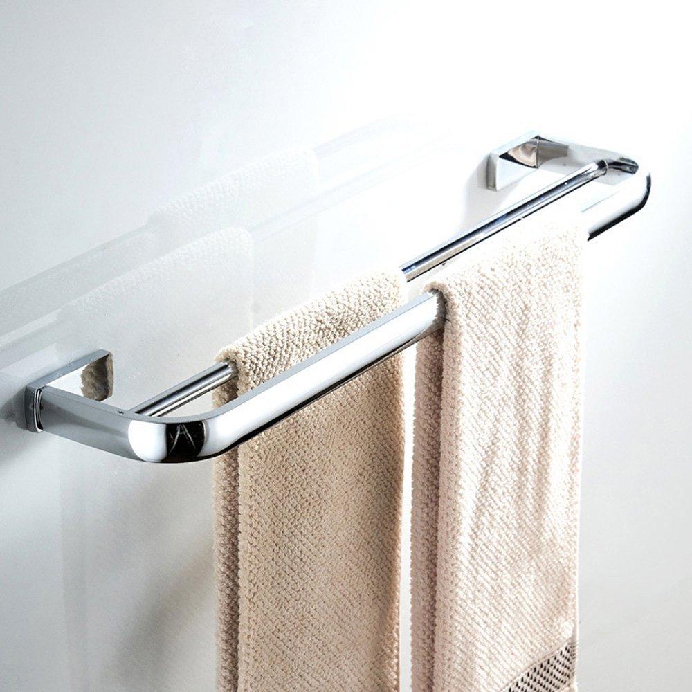 BigBig Home Anneau Porte-Serviette Argent/é Fixation Murale en Laiton Finition Style Simple Accessoire Toilettes Salle de Bain
