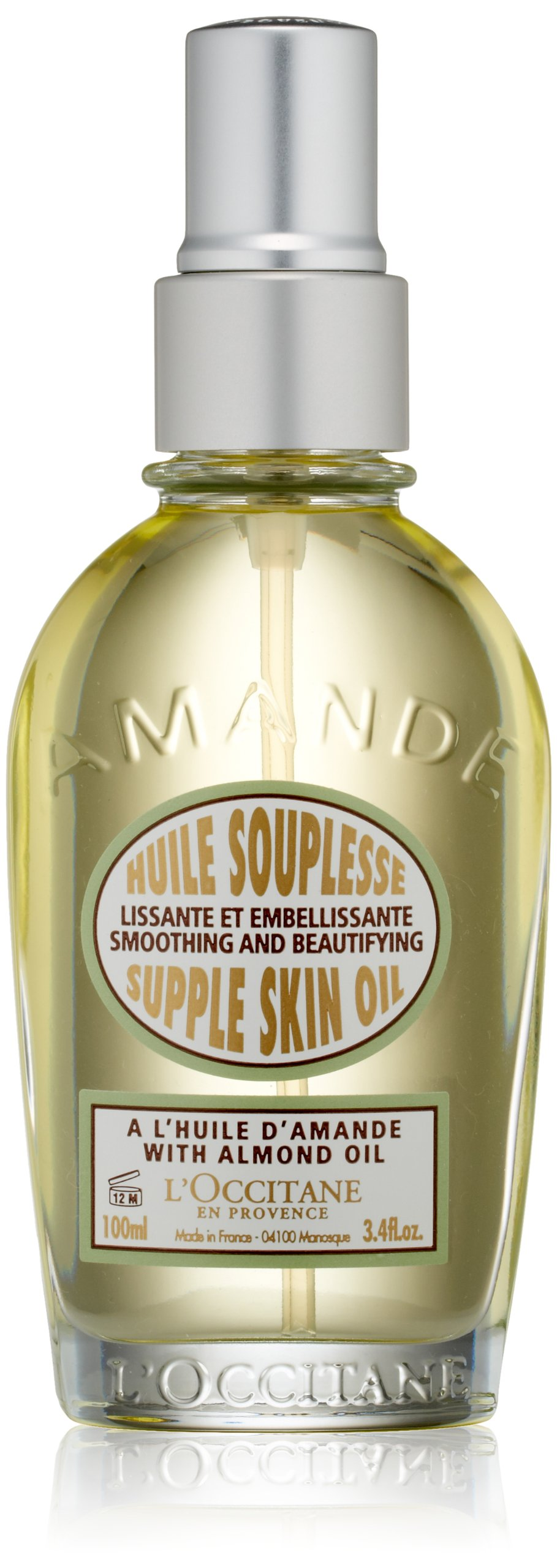 L'Occitane Smoothing & Beautifying Almond Supple Skin Body Oil, 3.4 fl. oz.