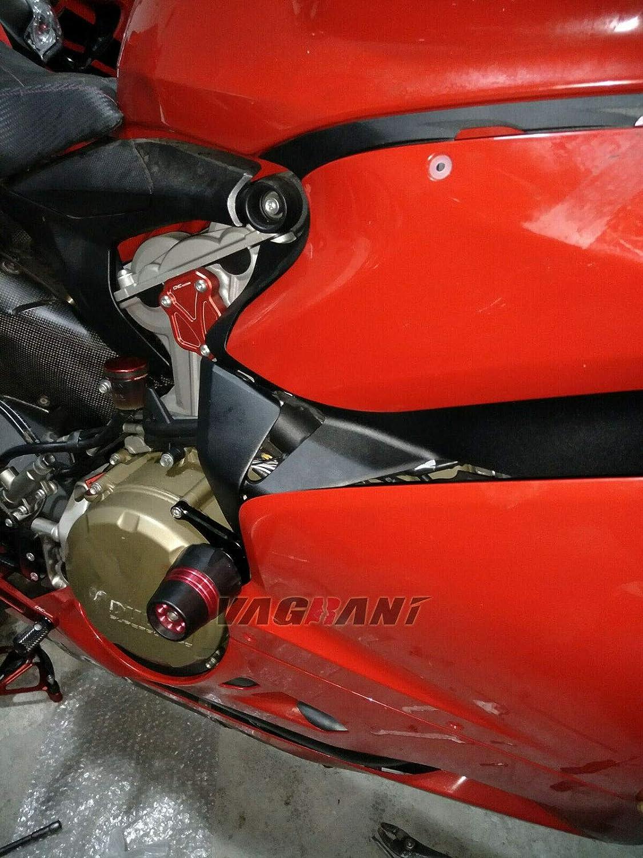 FidgetGear Crash Pads//Frame Sliders Bobbins for Ducati 959 Panigale//1199//1299 2012-2017 Titanium